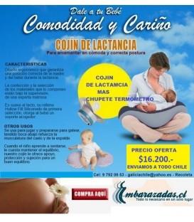COJIN DE LACTANCIA + CHUPETE TERMÓMETRO DIGITAL